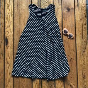 Universal Thread B&W Diagonal Stripe Tank Dress, L